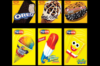 Premium Ice Cream Bar, Strawberry Shortcake, Chocolate Eclair, Snow Cone, Mega Missile, Ice Cream Sandwich
